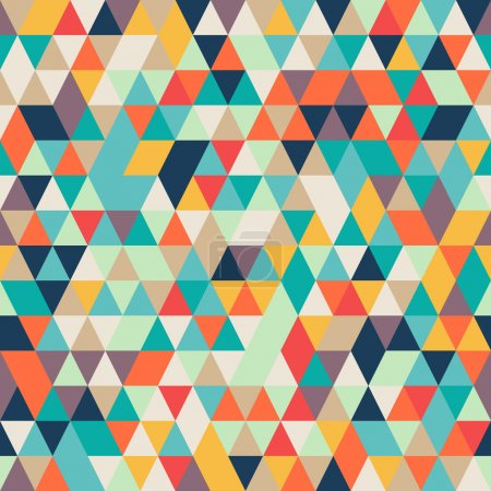 Illustration for Seamless Abstract Colorful background with triangle pattern, vector - Royalty Free Image