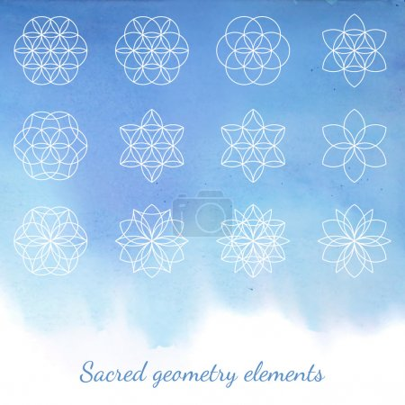 Sacred geometry vector elements