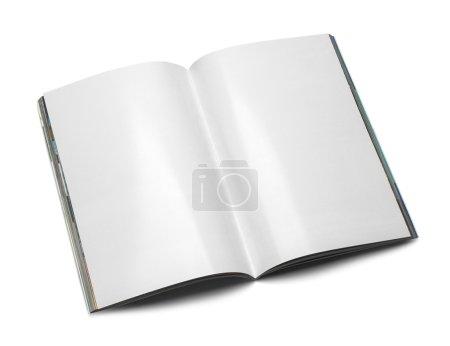 Photo pour Magazine ouverte avec espace copie isolée on White Background. - image libre de droit