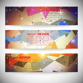 Set with polygonal abstract shapes circles lines and triangles Triangle design vector illustration