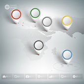 World map with pointer marks Infographics for business design and website template