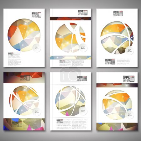Illustration for Abstract colored background, triangle design. Brochure, flyer or report for business, template vector. - Royalty Free Image