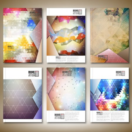Abstract colored backgrounds, triangle design vector. Brochure, flyer or report for business, templates vector