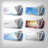Big Infographic banners set origami styled vector