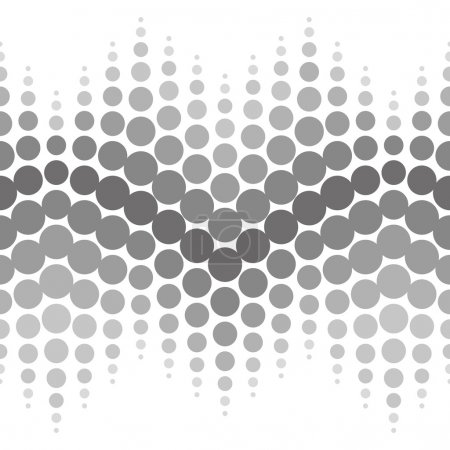 Vector halftone seamless pattern. Abstract dotted black and white background