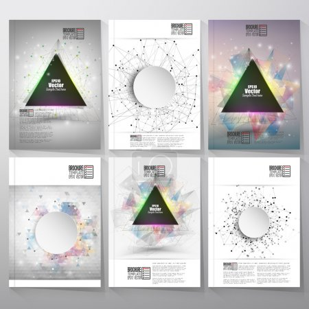 Abstract triangle design brochure, flyer or report with place for text