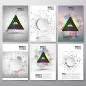 Abstract triangle banner with place for text Molecule structure background Brochure flyer or report for business templates vector