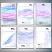 Abstraktní modré vlny pozadí. Brožury, letáku nebo zpráva pro podnikání, šablona vektor