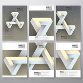 Unreal impossible geometric figure Brochure flyer or report for vector business templates