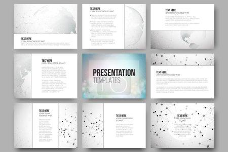 Set of 9 vector templates for presentation slides....