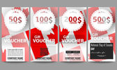 Modern gift voucher templates National Flag of Canada Day Abstract dotted vector background