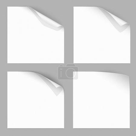 Illustration for Curled Paper Corner with Dark Background. Vector Illustration - Royalty Free Image