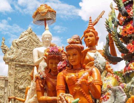 Thai art form of wax(Ubon Candle Festival 2014)