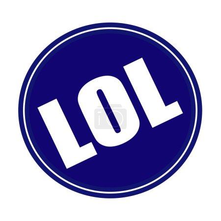 Photo pour LOL texte de timbre blanc sur bleu - image libre de droit