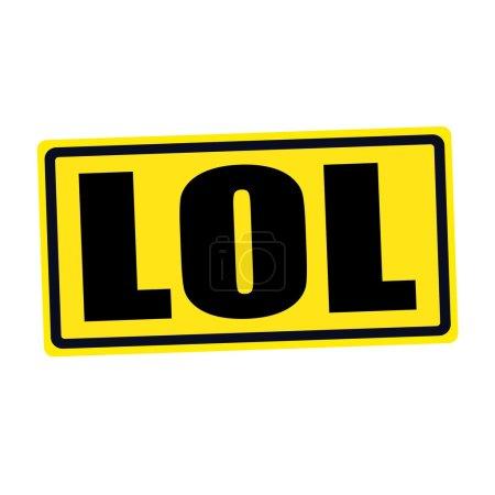 Photo pour LOL timbre noir texte sur jaune - image libre de droit