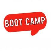 Boot camp formulace na řeči bubliny červené válec