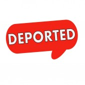 Deportováni formulace na řeči bubliny červené válec