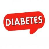 Formulace diabetu na řeči bubliny červené válec