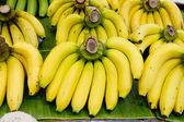 "Постер, картина, фотообои ""Связка бананов на банановом листе"""