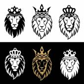 lion head in signs and labels 2