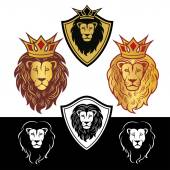 lion head in signs and labels 4