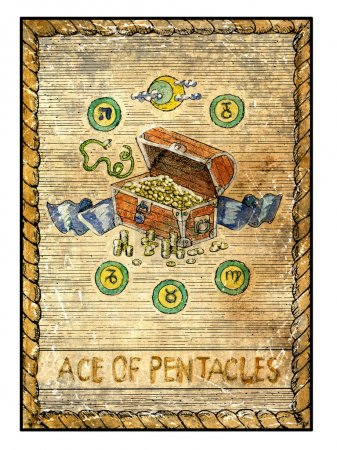 Ace of pentacles illustration