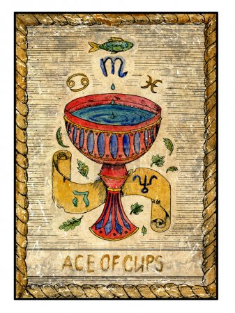 Ace of cups illustration