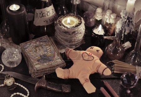 Close up of woodoo doll