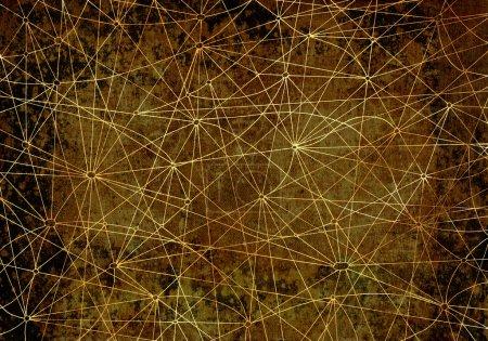 Photo pour Fond mystique avec lignes abstraites et texture - image libre de droit