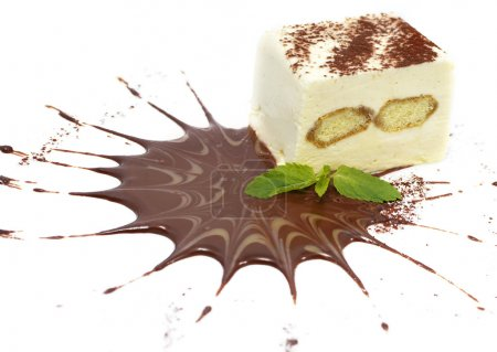 Tiramisu with chocolate powder