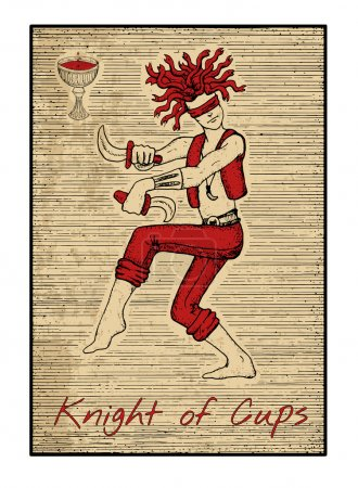 Knight of cups illustration