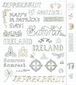 st Patricks day symbols and text
