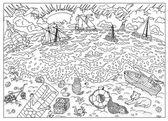 doodle  Sea coast