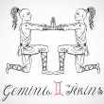 Hand drawn astrological zodiac sign Twins or Gemin...