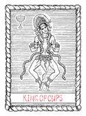 King of cups arcana tarot card
