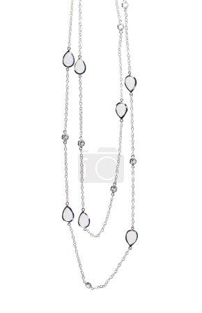 Photo pour Magnifique collier en diamant isolé sur blanc - image libre de droit
