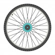 Bicycle wheel in flat style. isolated on white bac...