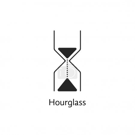 black abstract hourglass icon