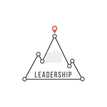 leadership icon like mountain peak