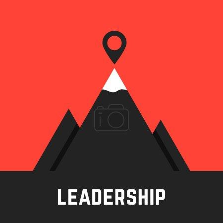leadership metaphor with black mountains