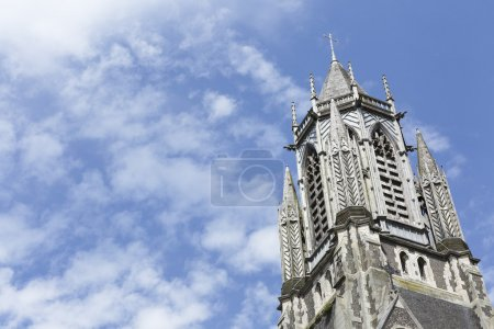 Church steeple on a bright sunny day