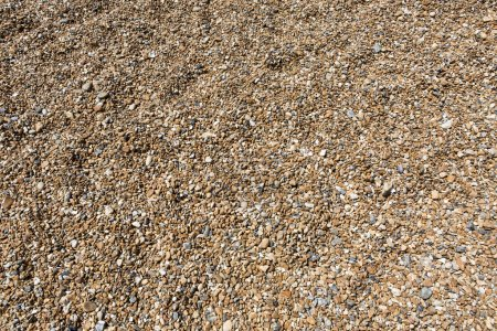 Shingle beach showing all the pebbles washed up by the sea