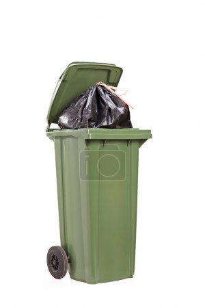 Big green trash can