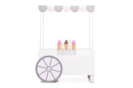 white ice cream stand
