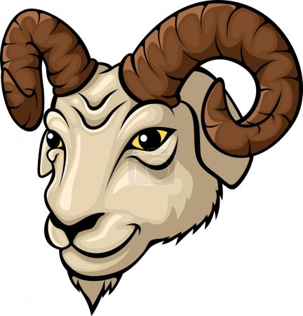 Ram head mascot illustration