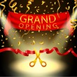 Illustration Of Grand opening background with spot...