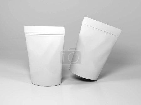 Photo pour Scène réaliste de maquette d'emballage de café - image libre de droit