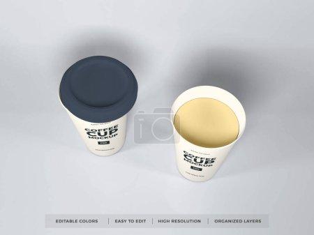 Photo pour Modèle réaliste de maquette de tasse de café en papier - image libre de droit