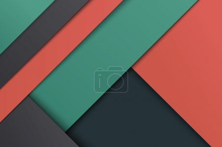Illustration of unusual modern material design background