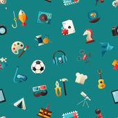 """Постер, картина, фотообои """"Современный плоский дизайн хобби иконы и infographicselements для вашего веб-сайта"""""""